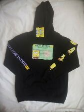 NWT Nickelodeon SpongeBob SquarePants Drivers License Hoodie Black Size Large