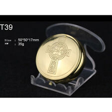 "Custom Religious Minister Gift Brass Pyx Home Traveling Pyx Eucharist 1.97""Dia"
