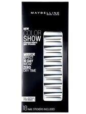 Maybelline Fashion Prints Mirror Effect Nail Stickers - 80 Platinum Standard New