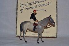 Vintage Britains colores de carreras de los propietarios famoso señor H J Joel Caballo & Jockey