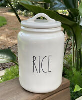 Rae Dunn Artisan Collection By Magenta RICE LL Large Canister HTF
