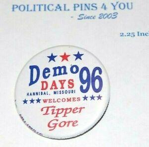 1996 TIPPER GORE Al Hannbal Missouri campaign pin pinback button political