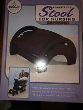 KidKraft Adjustable Wood Stool for Nursing Anti Slip Pads - Espresso 15153 1703