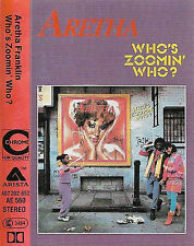ARETHA FRANKLIN WHO'S ZOOMIN' WHO? CASSETTE ALBUM  Disco, Synth-pop, Soul