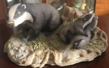 Excellent Border Fine Arts Figure Badger RW3 forest Family Chiltern collection