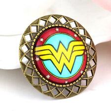 "Lapel Pin Badge Costume Brooch Wonder Woman 37mm 1.45"" Logo Pewter"
