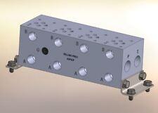 "Hydraulic manifold A3P42P D03 Parallel NPT Ports Alum  2"" Valve Spacing 4 St"