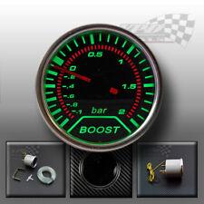 """Gauge boost Turbo Verde LED Ahumado Esfera Bisel Cromado 52 mm/2"""" (Bar)"""