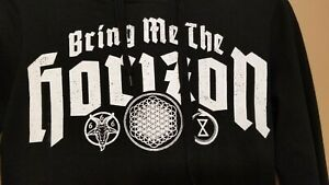 Bring Me The Horizon pullover hoodie black, size small