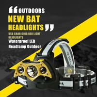 USB Rechargeable T6 COB 11 LED Head Light Waterproof Outdoor Fishing Head Lamp