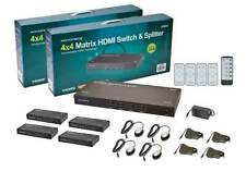 New listing Mp 4x4 Matrix Hdmi Switch & Splitter over Cat5e/Cat6 Cable w/ Remote Up to 131Ft