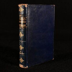 1892 The Divine Comedy of Dante Alighieri Longfellow Translation Leather