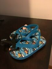 Brand New Toddler Boys Size 5-6 Wonder Nation Flip Flops With Back Strap