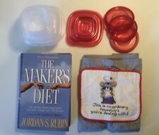 The Makers Diet Christian Nutrition Plan w Rubbermaid Containers Set 18 Pc Home