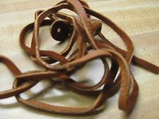 """Tanned Deer Leather Lace 72"""" + Hide Deer Skin Crafts # Saddle Tan Color"""