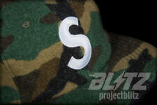 SUPREME WOOL S-LOGO 6-PANEL HAT CAMO FW17 2017 CAMP CAP BROWN BLACK GREEN TAN