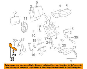 Buick GM OEM 00-01 LeSabre Front Seat-Outer Side Panel Right 16817412