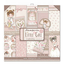 """NEW Stamperia  12"""" x 12"""" Paper Pad Little Girl"""
