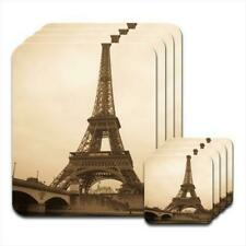 Eiffel Tower Vintage Set of 4 Placemats & Coasters