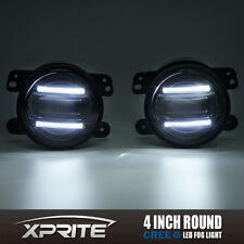 "Xprite 4"" G2 Round CREE LED 60W Fog Light with DRL for 97-18 Jeep Wrangler JK TJ"
