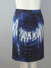 New CATHERINE MALANDRINO Size XS Blue Fully Lined Knit Skirt (MSRP $108.00)