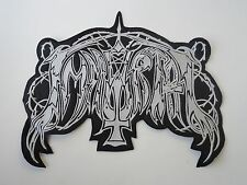 IMMORTAL EMBROIDERED OLD LOGO BLACK METAL BACK PATCH