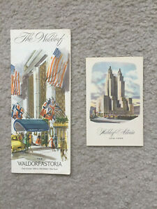 The Waldorf-Astoria Hotel - New York City - Brochure & Post Card - 1970