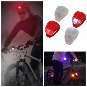 2 BICYCLE SAFETY LIGHT ULTRA BRIGHT BIKE HEAD LAMP AND REAR FLASHING WARNING LED