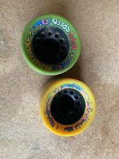 Pair Vintage MAD HOG 62MM Roller Skate Speed Wheels