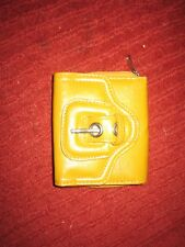 Dark Yellow purse with large buckle front