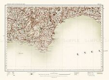 MAP ANTIQUE 1902 OS UK SOUTH DEVON COAST OLD LARGE REPLICA POSTER PRINT PAM0410