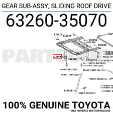 6326035070 Genuine Toyota GEAR SUB-ASSY, SLIDING ROOF DRIVE 63260-35070