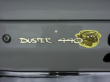 "PLYMOUTH ""DUSTER 440"" TAIL PANEL DECAL, MOPAR, 340, BIG BLOCK, RB, HEMI"