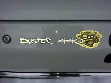 "PLYMOUTH ""DUSTER 440"" TAIL PANEL DECAL, MOPAR, 340, BIG BLOCK, RB, HEMI"