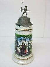 German Regimental Military Infantry Scenes Lithophane Soldier Rifle Finial