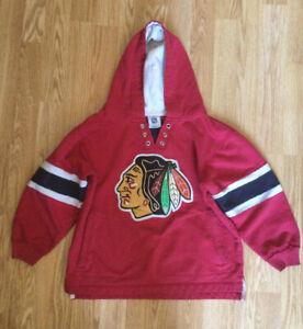 NHL Kids Chicago Blackhawks Hoodie 5-7 Years Cotton Sweatshirt  Rare