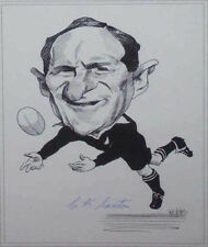 CHARLIE SAXTON RUGBY NZ ALL BLACK SIGNED PRINT WITH COA