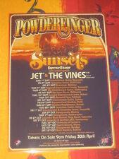 POWDERFINGER - SUNSETS FAREWELL AUSTRALIAN  TOUR  -  PROMO TOUR POSTER