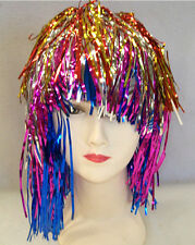 12x Multi- Colours Metallic Foil,  Party ,Tinsel Wigs