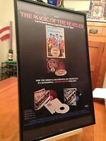 BIG 11X17 FRAMED BEATLES SGT. PEPPER LP ALBUM PROMO AD + free bonus ad & CD!