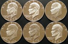 1973-1978 S Eisenhower Dollar DCam Proof Run CN-Clad Ike Lot US Mint 6 Coin Set.