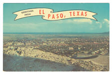 El Paso Texas greetings posted 1964 City viewed from distance