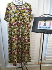 Lularoe NWT Disney Carly XL Extra Large Mickey Mouse Mustard Gold & Red