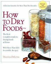 How to Dry Foods Book~Recipes~Jerky~Trail Mix~Fruit~Dessert~Dehydrator~NEW
