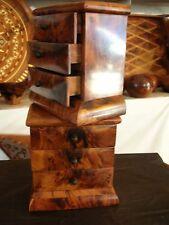 2 x New Jewerly Box Thuya Wood With 3 Drawers