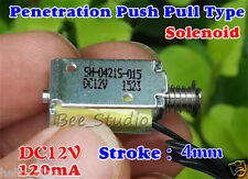 DC12V 120mA 4mm Stroke Push Pull Type Micro Solenoid Electromagnet Mini Solenoid