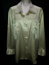 Tommy Hilfigher Womens Long Sleeve Shirt Blouse Top Plus Sz 24 Pearl Snap Beige