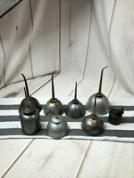 8 Piece VINTAGE EAGLE Metal Thumb Oiler Oil Can Craftsman Others Collection