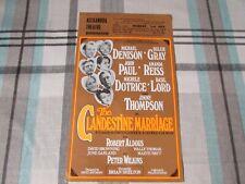 Denison & Gray in the Clandestine Marriage Alexandra Theatre Birmingham Flyer