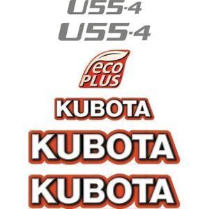 Decal Sticker Set Kubota U55-4 Mini Digger Excavator Decal Set